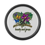 Butterflygrandmother.png Large Wall Clock