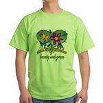 Butterflygrandmother.png Green T-Shirt