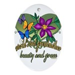Butterflygrandmother.png Ornament (Oval)