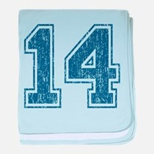 Retro 14 Blue baby blanket