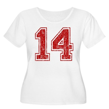 Retro 14 Red Plus Size T-Shirt