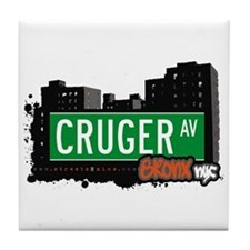 Cruger Av, Bronx, NYC Tile Coaster