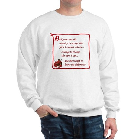 Yarnaholic prayer Sweatshirt