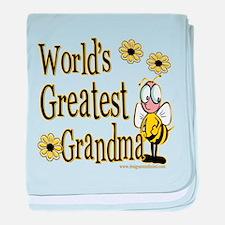 Beeworldsgreatestgrandma copy.png baby blanket