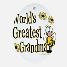 Beeworldsgreatestgrandma copy.png Ornament (Oval)