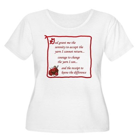 Yarnaholic prayer Women's Plus Size Scoop Neck T-S