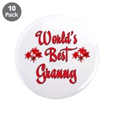 "10x10_apparelwordlsbestgranny.jpg 3.5"" Button (10"
