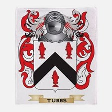 Tubbs Family Crest (Coat of Arms) Throw Blanket
