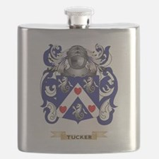 Tucker Family Crest (Coat of Arms) Flask