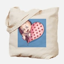 zip-heart-womb-pnk-BUT Tote Bag