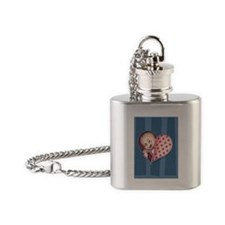 zip-heart-womb-pnk-LG Flask Necklace