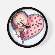 zip-heart-womb-pnkLTT Wall Clock