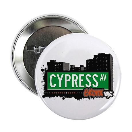 """Cypress Av, Bronx, NYC 2.25"""" Button"""