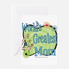 Floralworldsgreatestmom copy.png Greeting Card