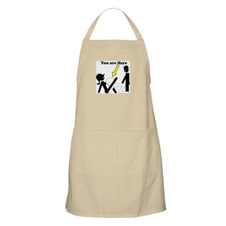 You Are Here 3some BBQ Apron