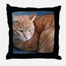 Unique Cats curled up Throw Pillow