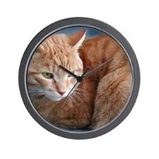 Unique Orange tabby Wall Clock
