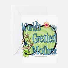 Floralworldsgreatestmother copy.png Greeting Card