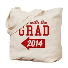 Im With The Grad 2014 (left) Tote Bag