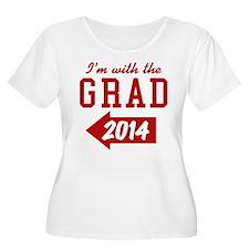 Im With The Grad 2014 (left) Plus Size T-Shirt