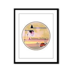 Cali Surf Logo Framed Panel Print