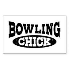 Bowling Chick Decal