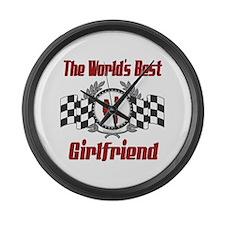 Racing1GIRLFRIEND.png Large Wall Clock