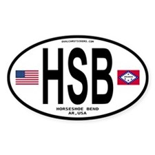 Horseshoe Bend Euro Oval Oval Decal