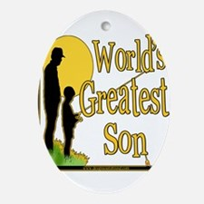 FishingGreatestson copy.png Ornament (Oval)