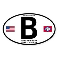 Benton Euro Oval Oval Decal