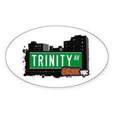 Trinity Av, Bronx, NYC Oval Decal