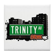 Trinity Av, Bronx, NYC Tile Coaster