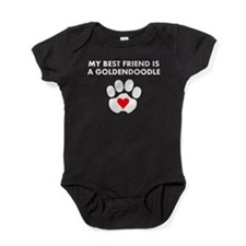 My Best Friend Is A Goldendoodle Baby Bodysuit