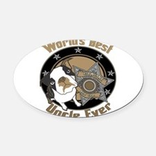 TopDogWorldsBestUncle copy.png Oval Car Magnet