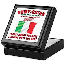 Italian bump and grind Keepsake Box