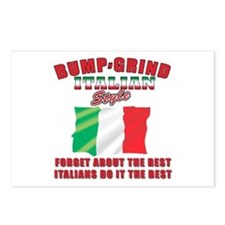 Italian bump and grind Postcards (Package of 8)