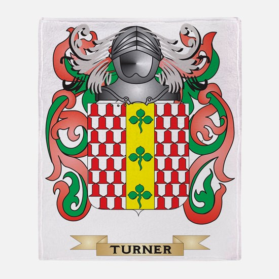 Turner Family Crest (Coat of Arms) Throw Blanket