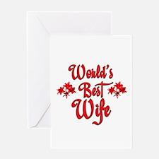 10x10_apparelworldsbestwife.jpg Greeting Card