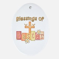 heastercrossblessings copy.png Ornament (Oval)