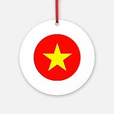 Vietnamese Flag Ornament (Round)