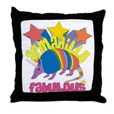 Armadillo Fabulous Throw Pillow