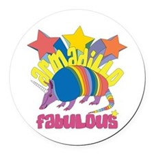 Armadillo Fabulous Round Car Magnet