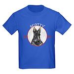 Scottish Terrier Scotty Dog Kids Dark T-Shirt
