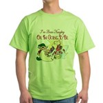 ChristmasNaughtyorgonnabe copy.png Green T-Shirt