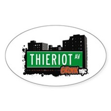 Thieriot Av, Bronx, NYC Oval Decal