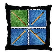 WWQ Flute - Throw Pillow