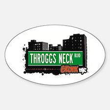 Throggs Neck Blvd, Bronx, NYC Oval Decal