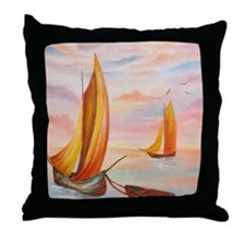 On the Water Throw Pillow