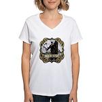 Bowhunter Archery logo Women's V-Neck T-Shirt