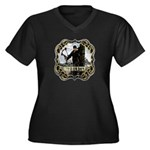 Bowhunter Archery logo Women's Plus Size V-Neck D